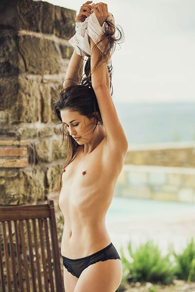 Model Edessa G in Lets Get Naked