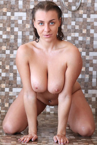 Model Josephine V in Shower With Me